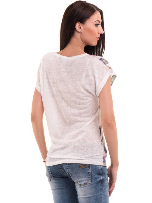 Дамска блуза с флорални мотиви LORA PLANA 3458 - лилава B