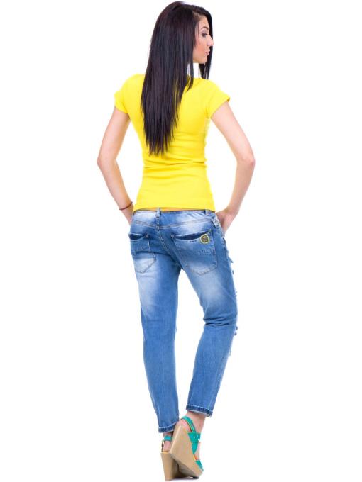 Дамска едноцветна тениска MISS POEM 13942 - жълта E