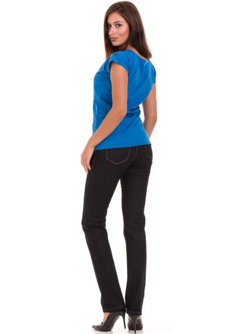 Дамска тениска с щампа  MISS POEM 15836 - синя E