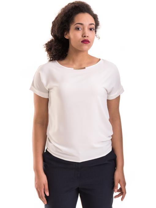 Дамска елегантна блуза PRETTY LOLITA 11568 - цвят екрю
