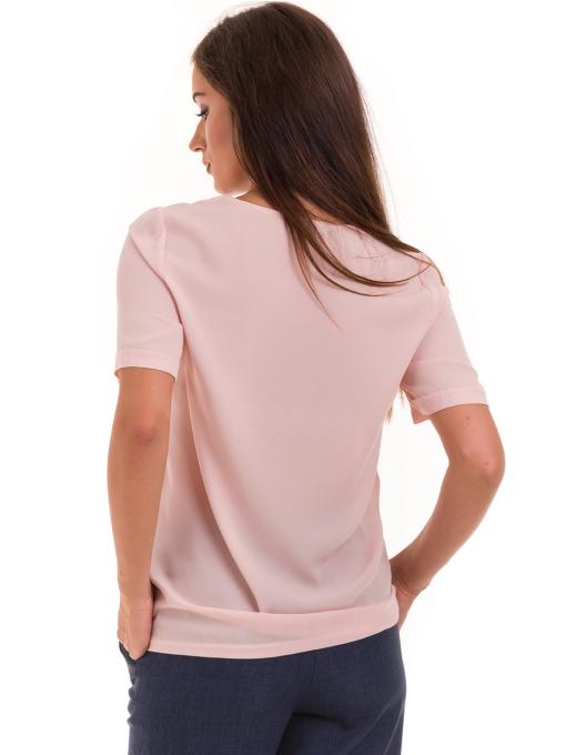 Дамска елегантна блуза SERFA 3455 с колие - розова B