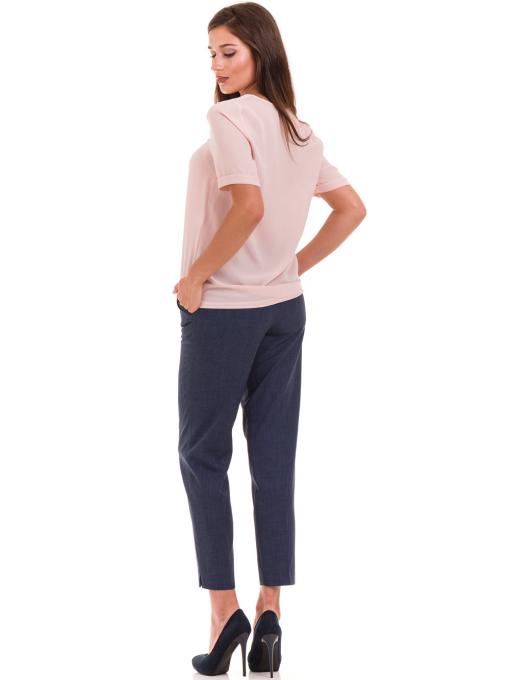 Дамска елегантна блуза SERFA 3455 с колие - розова E