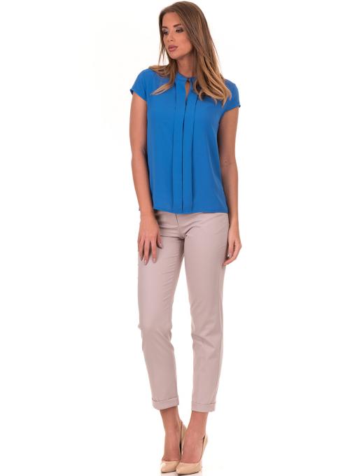 Дамска елегантна блуза SERFA B3775 - големи размери - синя C
