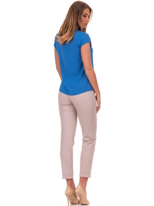 Дамска елегантна блуза SERFA B3775 - големи размери - синя E