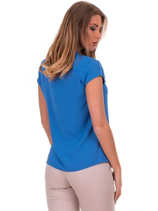 Дамска елегантна блуза SERFA B3775 - големи размери - синя B