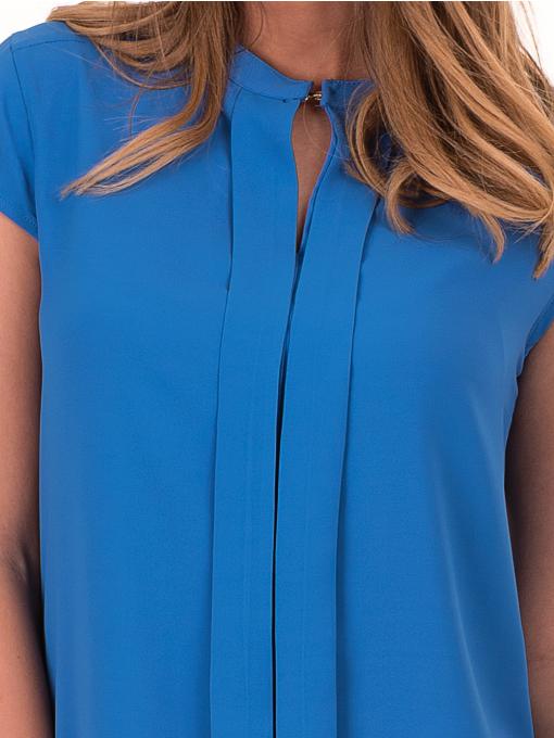 Дамска елегантна блуза SERFA B3775 - големи размери - синя D