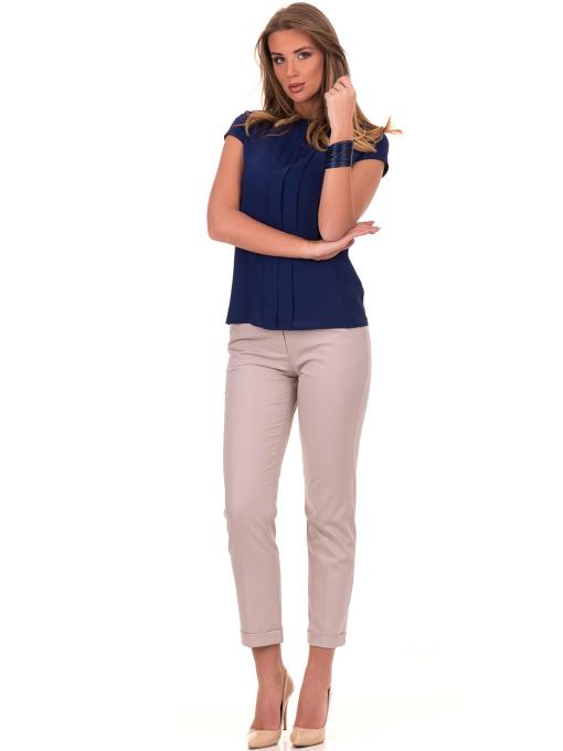 Дамска елегантна блуза SERFA - големи размери - тъмно синя C