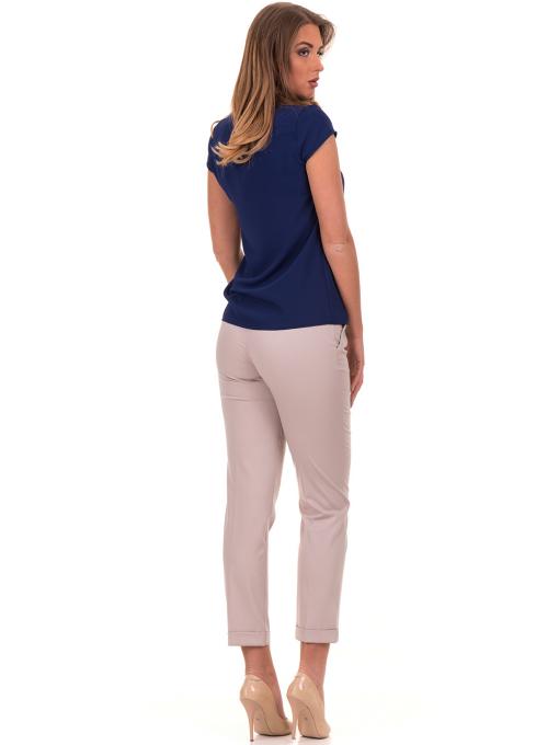 Дамска елегантна блуза SERFA - големи размери - тъмно синя E