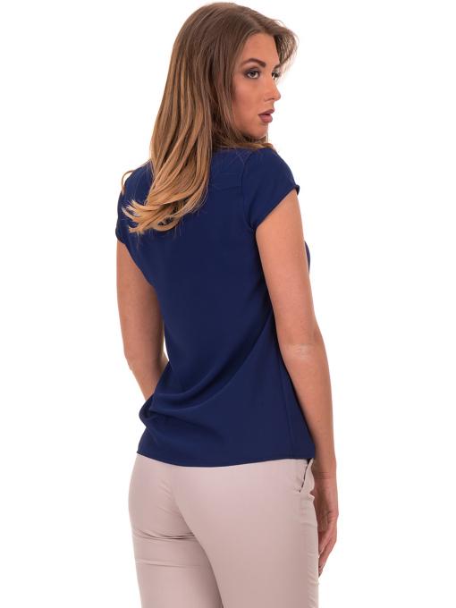 Дамска елегантна блуза SERFA - големи размери - тъмно синя B