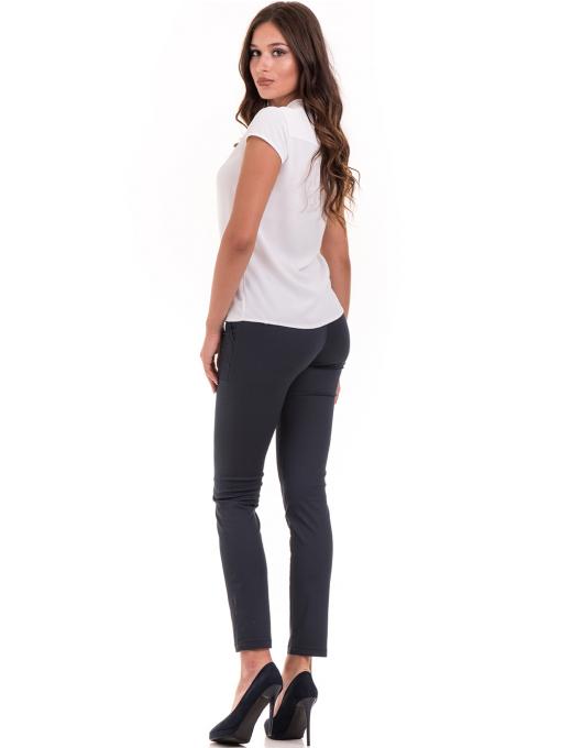 Дамска елегантна блуза SERFA B3775 - бяла - големи размери E