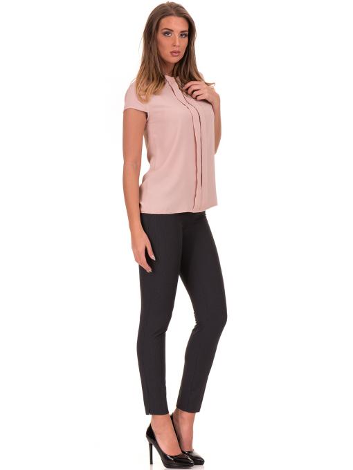 Дамска елегантна блуза SERFA 3775 - цвят пудра C