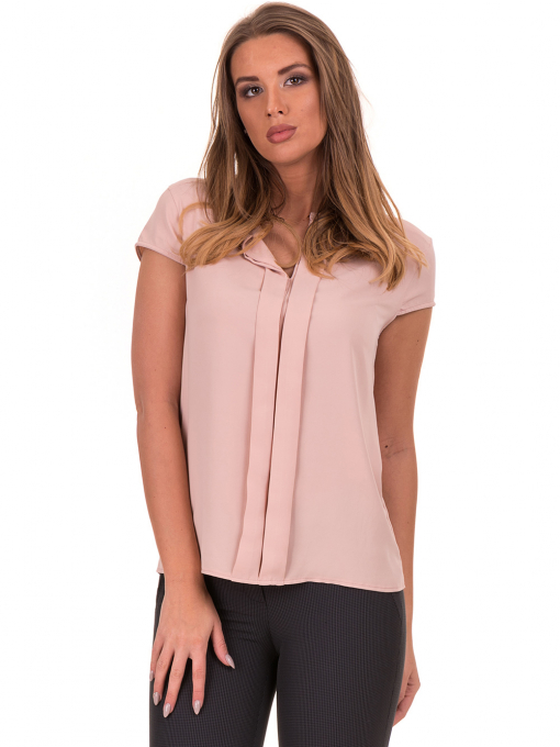 Дамска елегантна блуза SERFA 3775 - цвят пудра