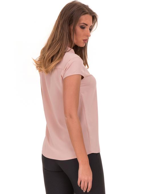 Дамска елегантна блуза SERFA 3775 - цвят пудра B