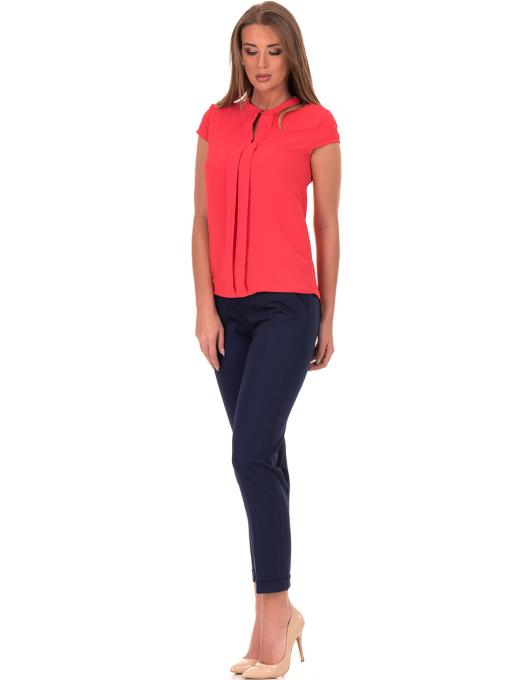 Дамска елегантна блуза SERFA 3775 - цвят корал C