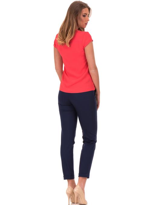 Дамска елегантна блуза SERFA 3775 - цвят корал E