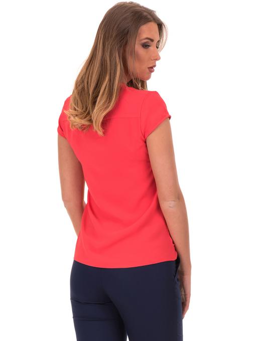 Дамска елегантна блуза SERFA 3775 - цвят корал B