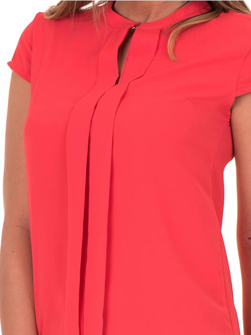 Дамска елегантна блуза SERFA 3775 - цвят корал D