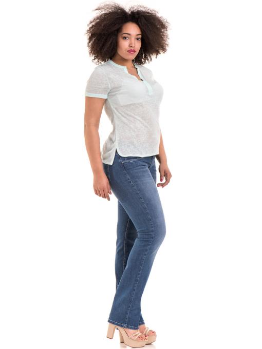 Дамска блуза V-образно деколте STAMINA 101 - цвят резеда C
