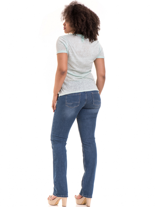 Дамска блуза V-образно деколте STAMINA 101 - цвят резеда E