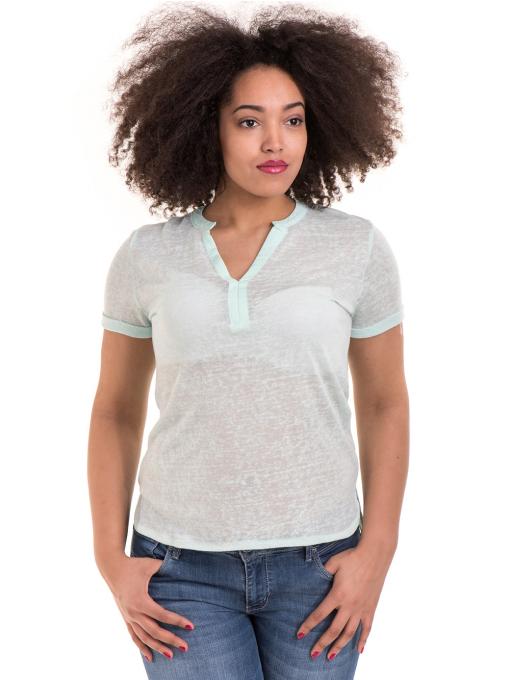 Дамска блуза V-образно деколте STAMINA 101 - цвят резеда