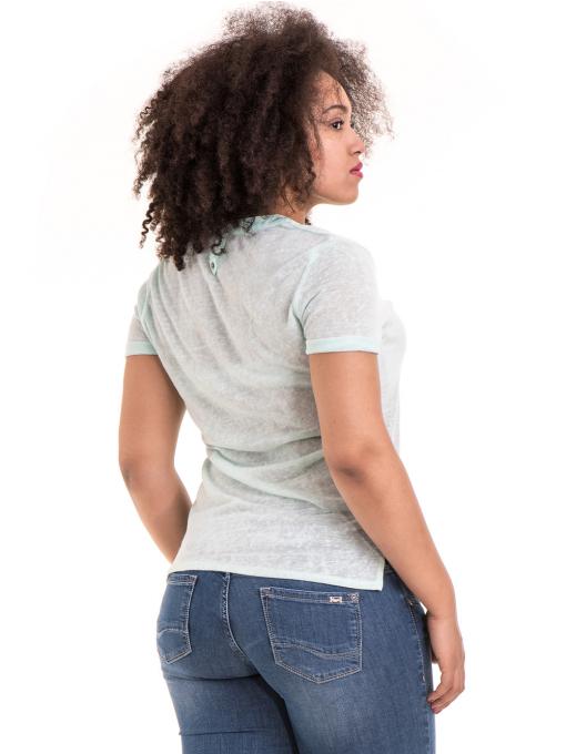 Дамска блуза V-образно деколте STAMINA 101 - цвят резеда B
