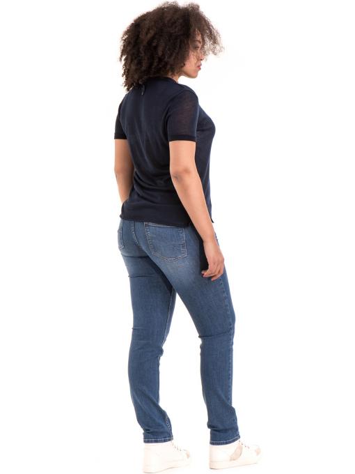 Дамска блуза с V-образно деколте STAMINA 101 - тъмно синя E