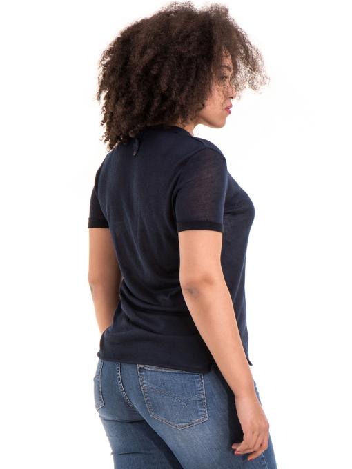 Дамска блуза с V-образно деколте STAMINA 101 - тъмно синя B