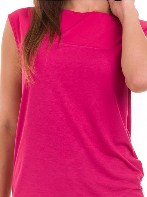 Дамска блуза свободен модел STAMINA 122 - тъмно розова D