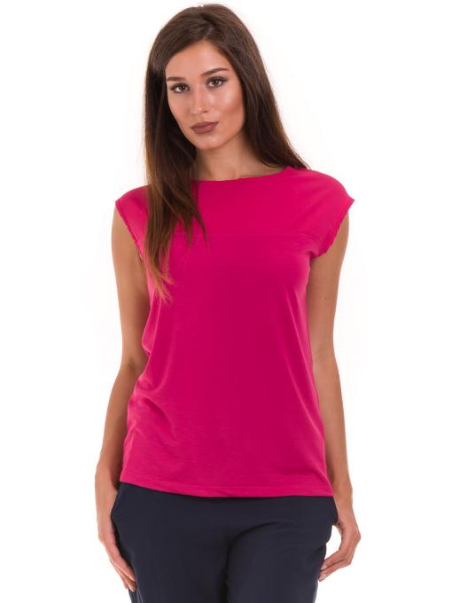 Дамска блуза свободен модел STAMINA 122 - тъмно розова
