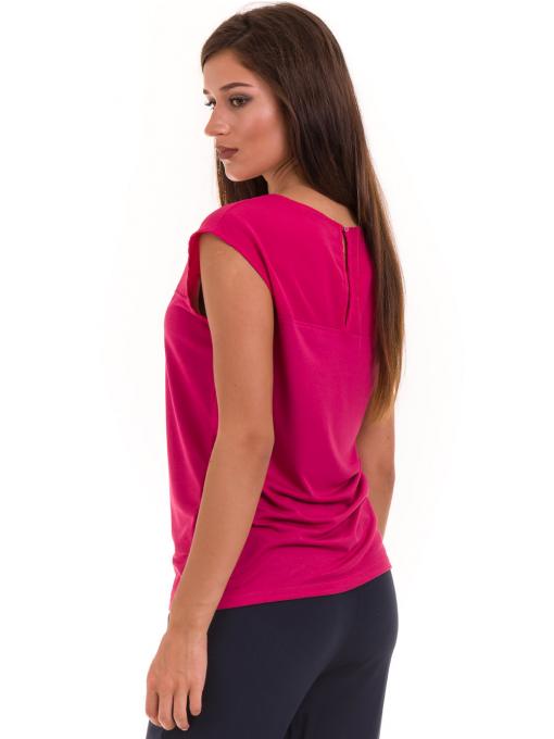 Дамска блуза свободен модел STAMINA 122 - тъмно розова B
