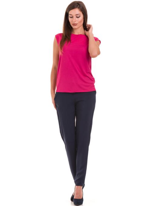 Дамска блуза свободен модел STAMINA 122 - тъмно розова C