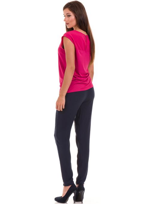 Дамска блуза свободен модел STAMINA 122 - тъмно розова E