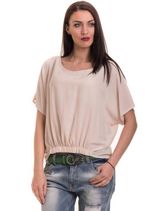 """Дамска спортно-елегантна блуза TWO""""E 11282 - цвят праскова"""