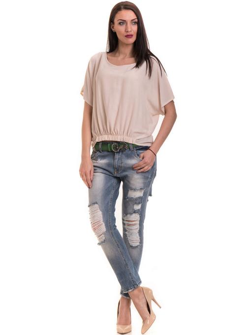 """Дамска спортно-елегантна блуза TWO""""E 11282 - цвят праскова C"""