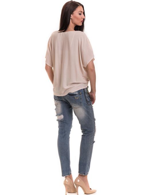 """Дамска спортно-елегантна блуза TWO""""E 11282 - цвят праскова E"""