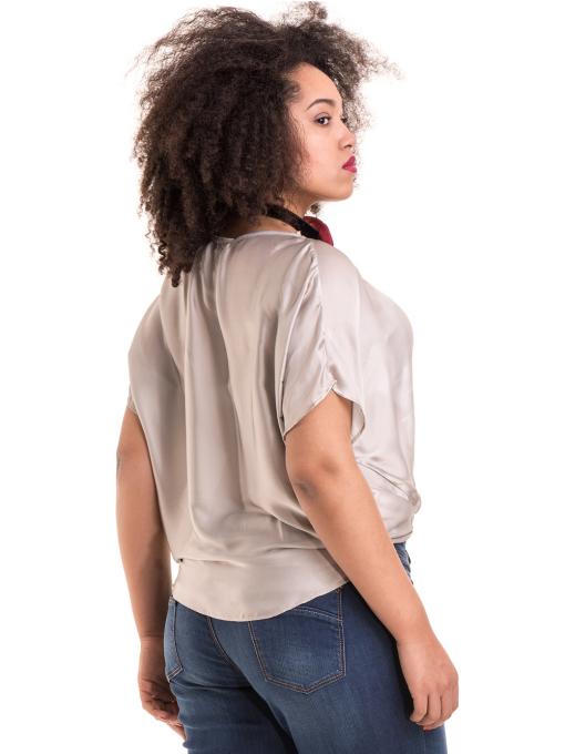 """Дамска ефирна блуза TWO""""E 13241 - светло бежова  B"""