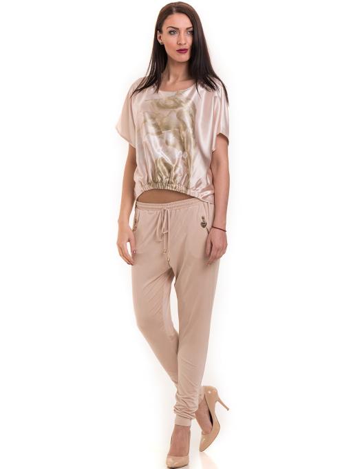 """Дамска ефирна блуза TWO""""E 13241 - цвят праскова C1"""