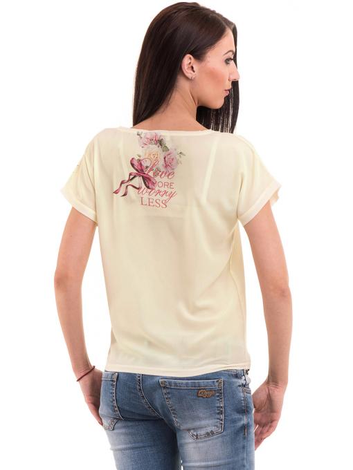Дамска блуза с щампа LA CHICA 3344 - цвят жълт B