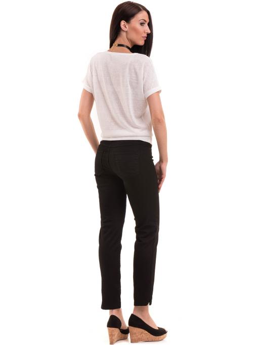 Дамска блуза с щампа LA CHICA 3506 - бяла E