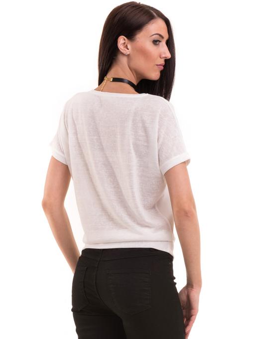 Дамска блуза с щампа LA CHICA 3506 - бяла B