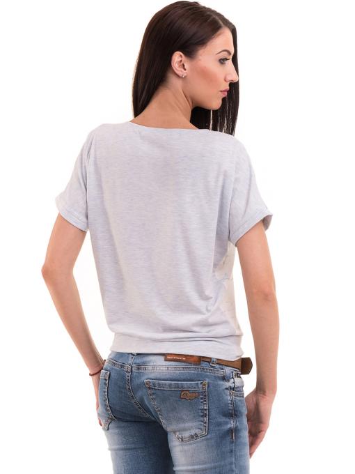 Дамска блуза с щампа LA CHICA 3518 - светло синя B