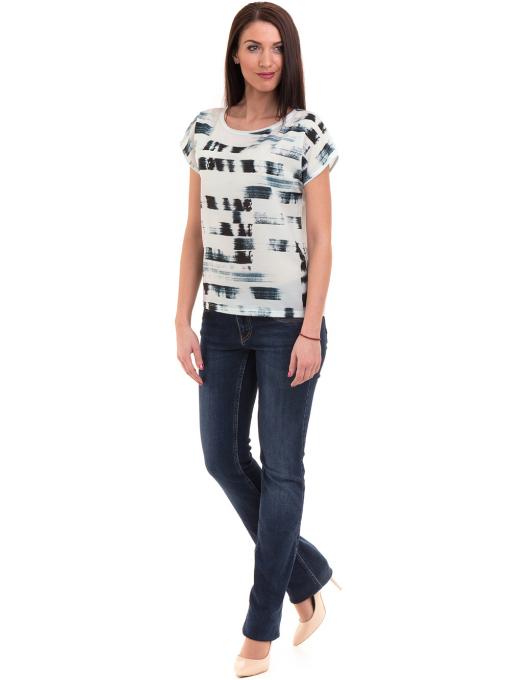 Дамска блуза свободен модел LA CHICA 3525 - тъмно синя C