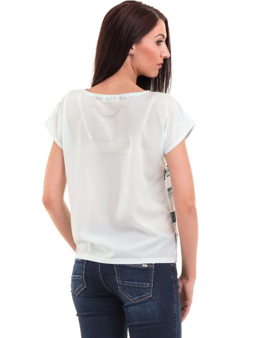 Дамска блуза свободен модел LA CHICA 3525 - тъмно синя B