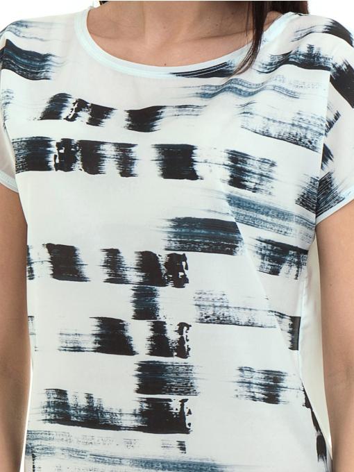 Дамска блуза свободен модел LA CHICA 3525 - тъмно синя D