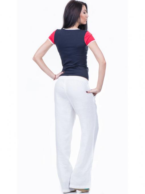 Дамска блуза с моряшки десен VIGGOS 10038 - тъмно синя E