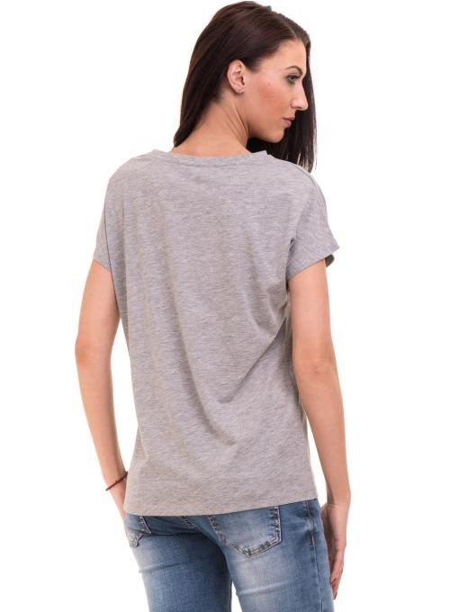 Дамска блуза свободен модел VIGOSS 11178 - светло сива B