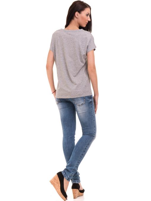 Дамска блуза свободен модел VIGOSS 11178 - светло сива E