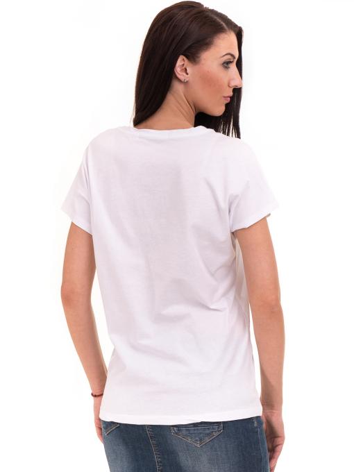 Дамска блуза свободен модел VIGOSS 11178 - бяла B