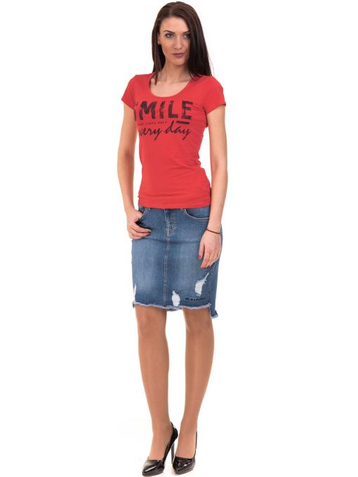 Дамска блуза с надпис VIGOSS 11191 - червена C