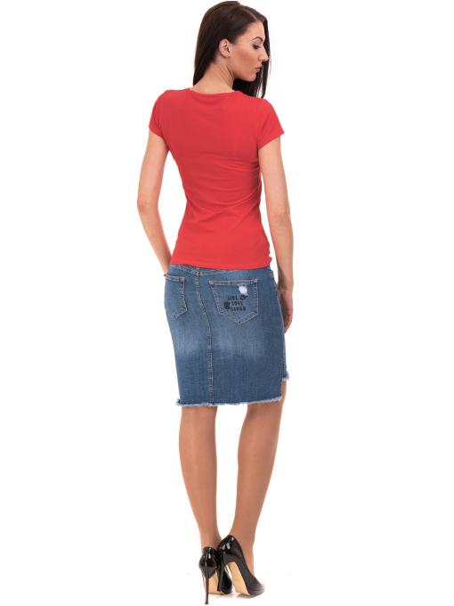 Дамска блуза с надпис VIGOSS 11191 - червена E